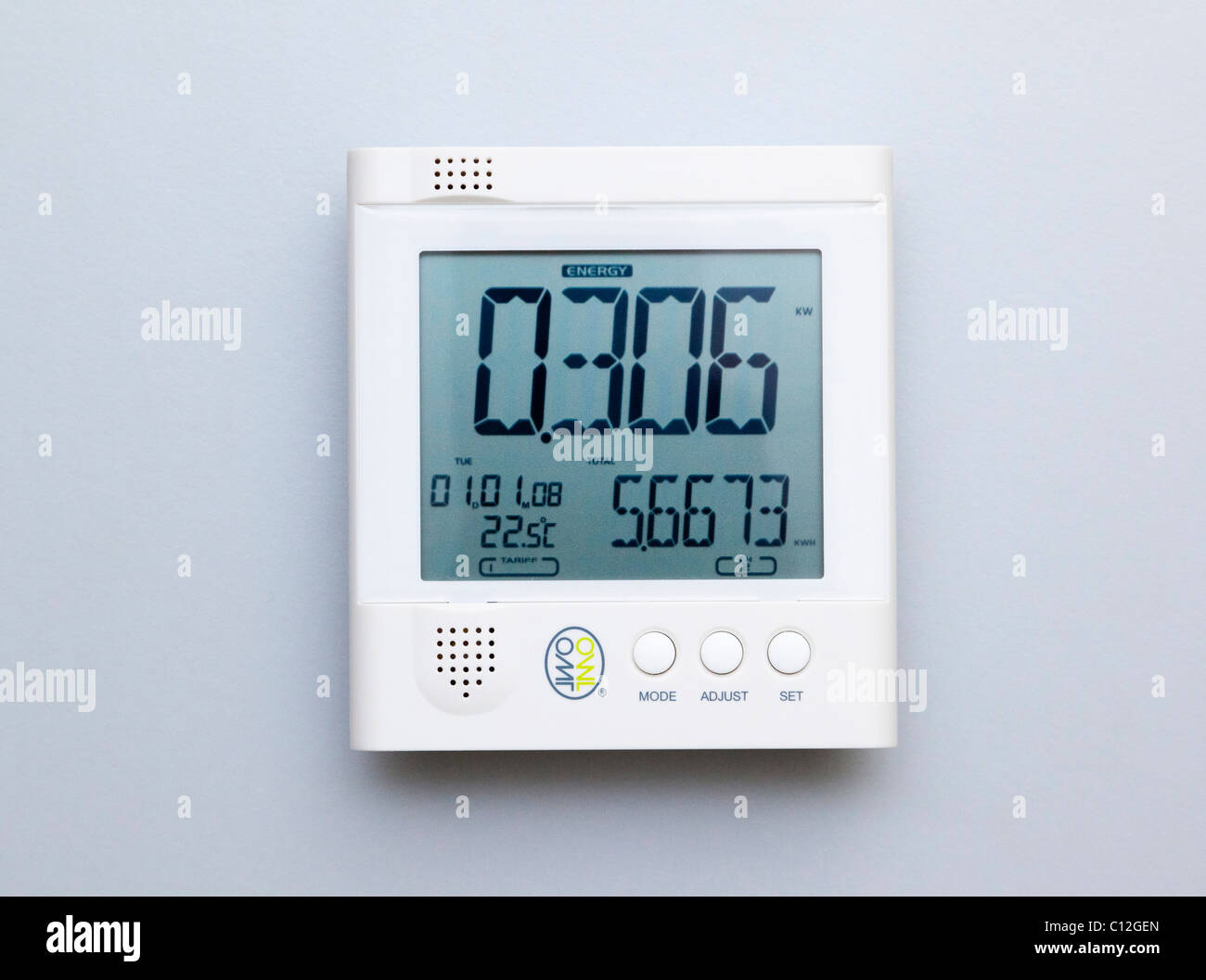 electricity energy monitor - Stock Image