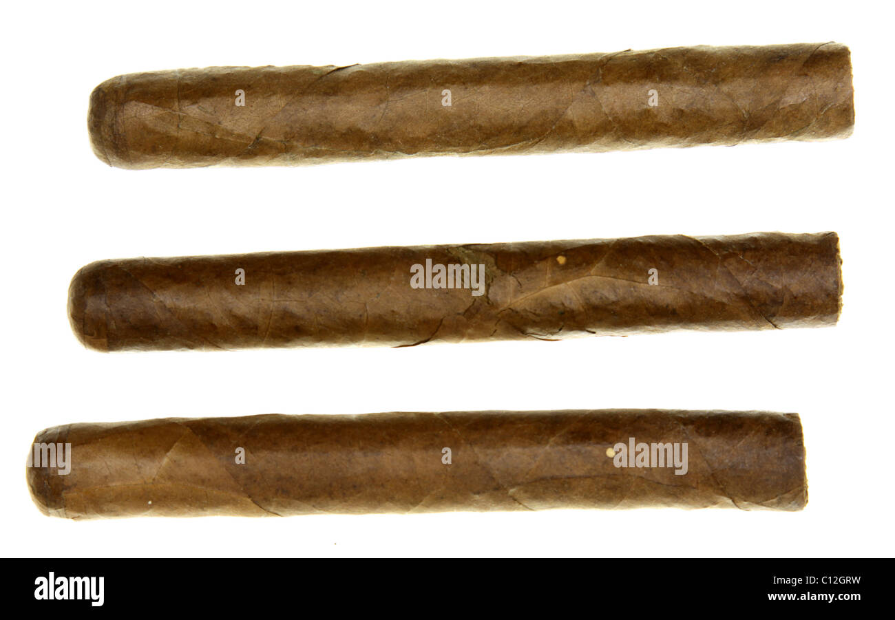 Isolated Cigars - Stock Image