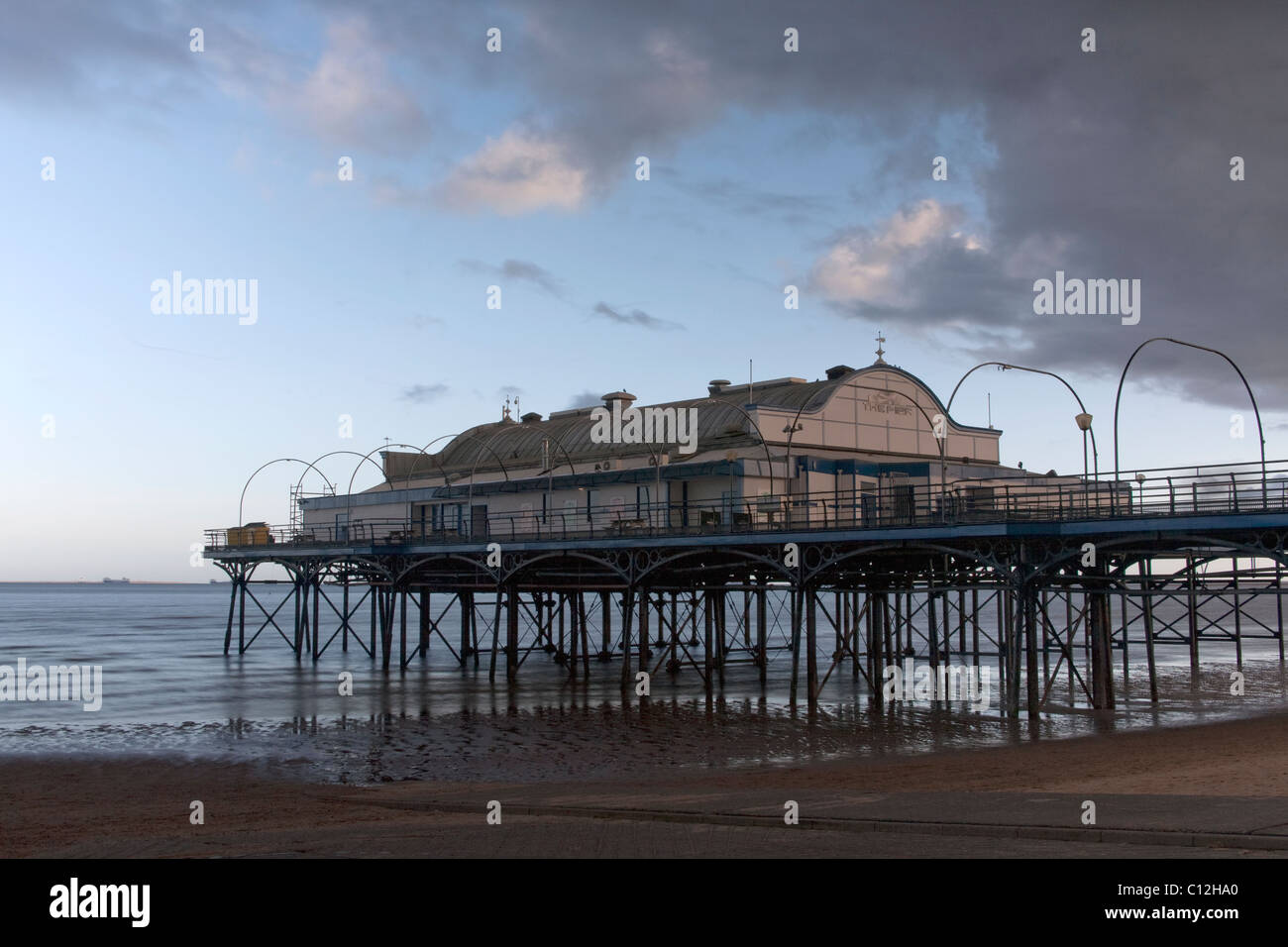 Cleethorpes Pier, North East Lincolnshire Feb 2011 - Stock Image