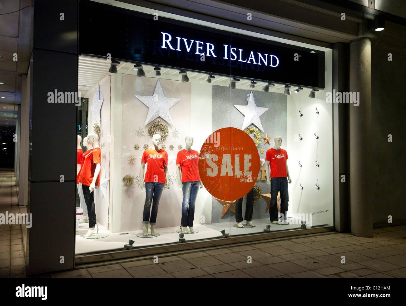 sales at River Island shop, UK Stock Photo