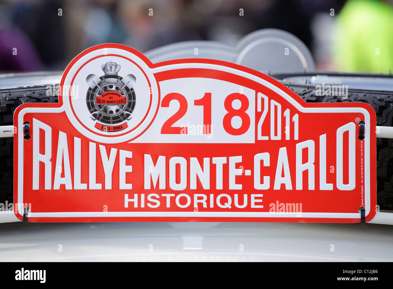 A Monte Carlo Rallye sign, UK - Stock Image