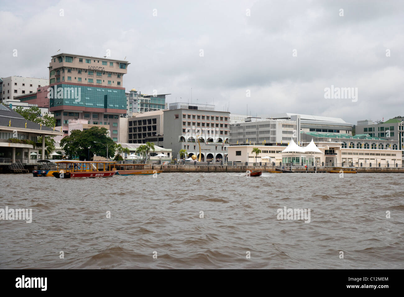 Bandar Seri Begawan, Brunei as seen from the River - Stock Image