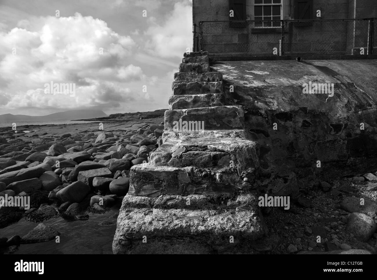 Blacksod Lighthouse on the Mullet Peninsula, County Mayo, Ireland - Stock Image