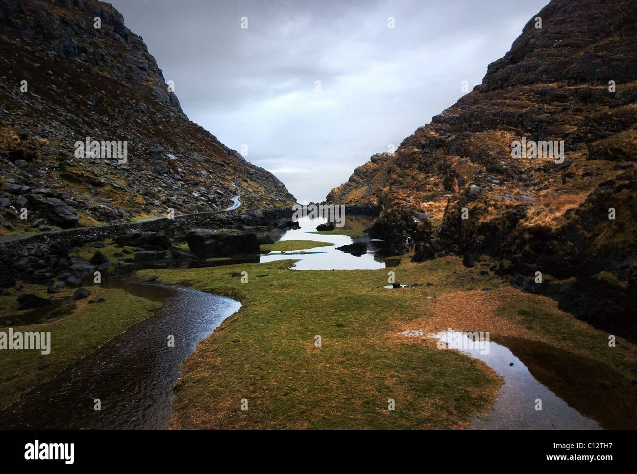 Gap of Dunloe in County Kerry, Eire - Stock Image