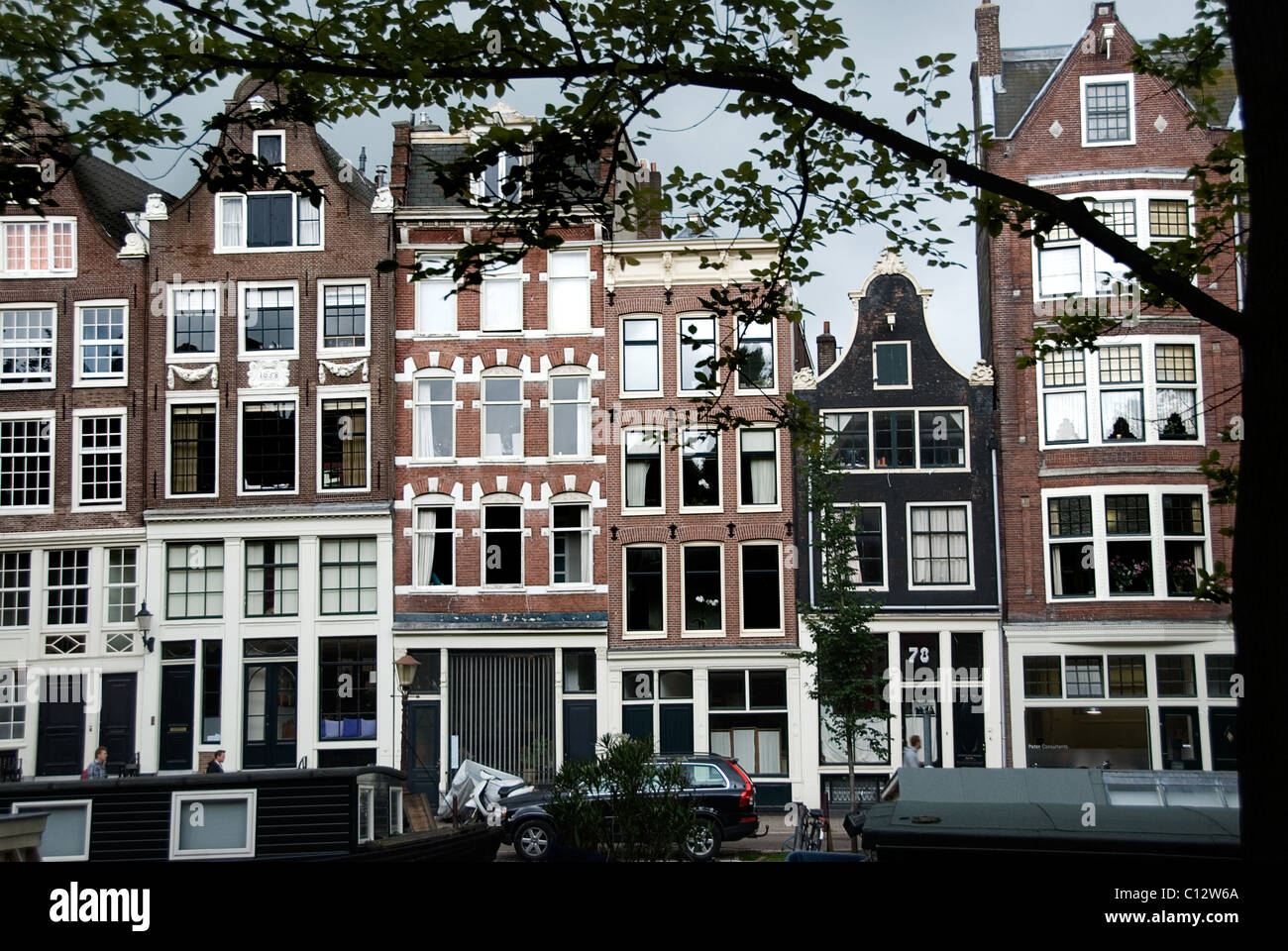 Building exteriors in Amsterdam, Holland - Stock Image