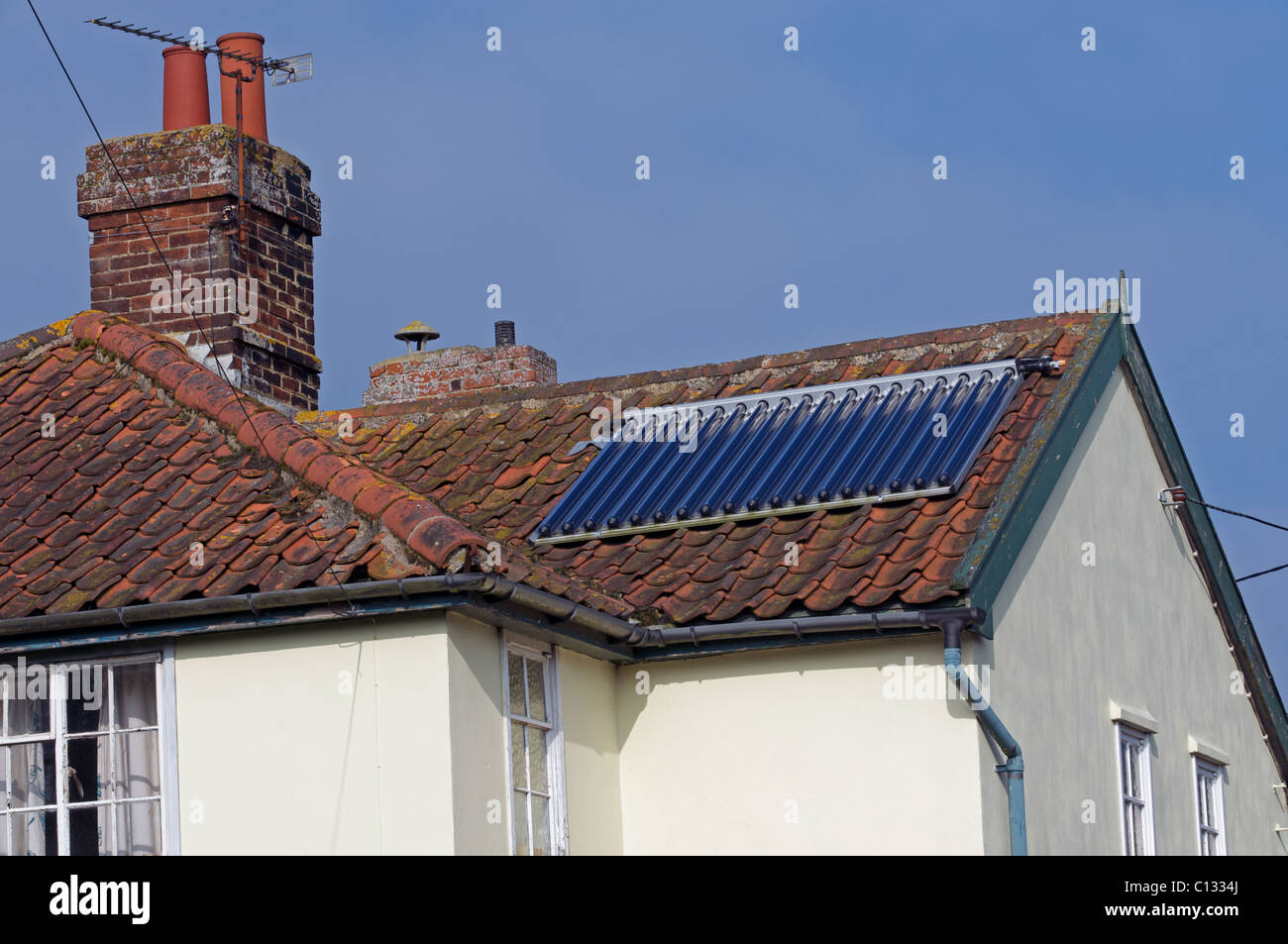 Solar Thermal Evacuated Tubes Stock Photos Amp Solar Thermal