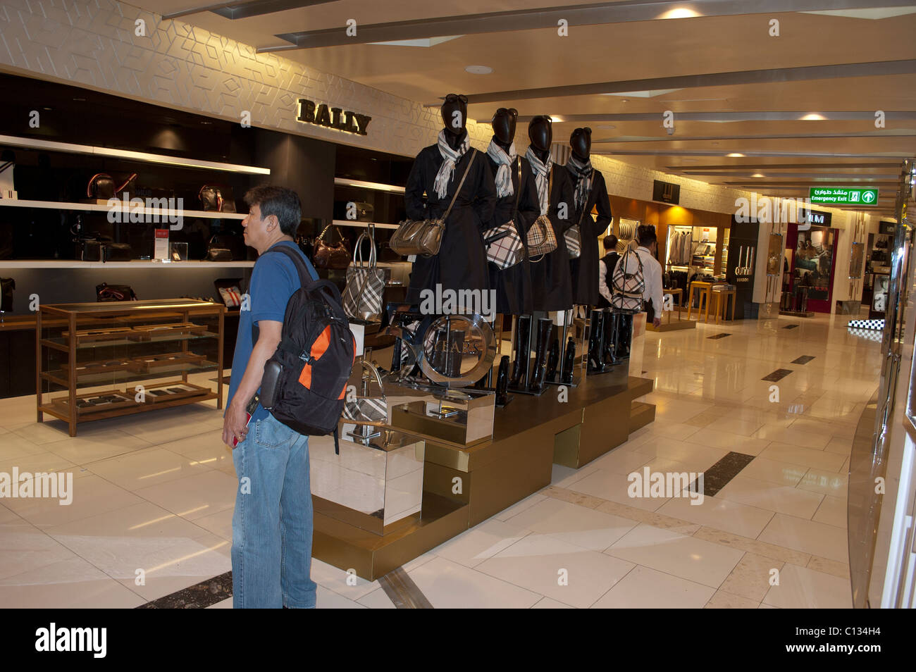 abfb2fc8743642 Duty free shopping, Abu Dhabi International Airport, UAE Stock Photo ...
