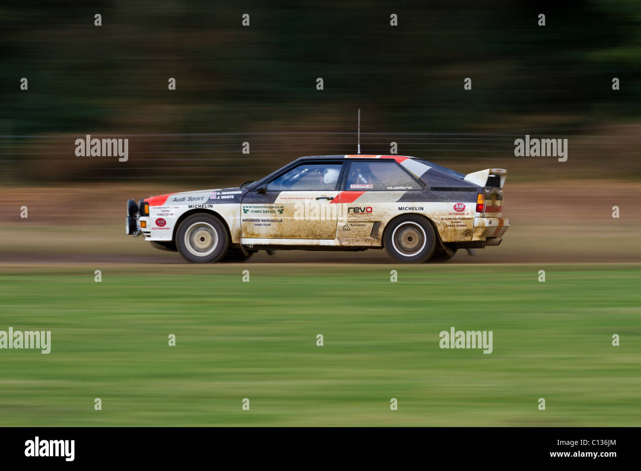 An Audi Quattro at the Somerley Motorfair. Part of the Rallye Sunseeker 2011. - Stock Image
