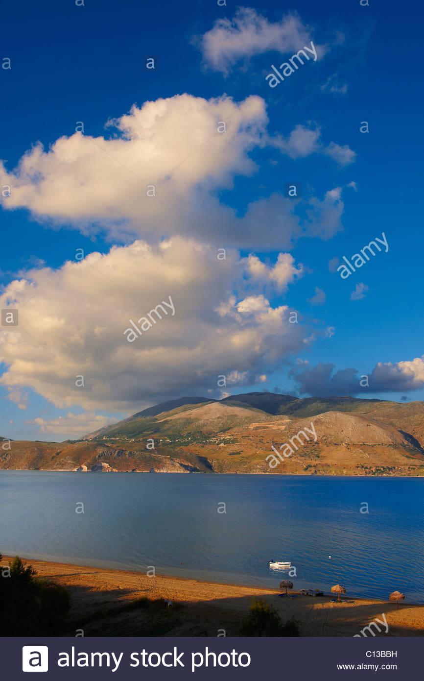 Agrostoli Bay near Lixouri, Kefalonia, Ionian Islands, Greece. - Stock Image