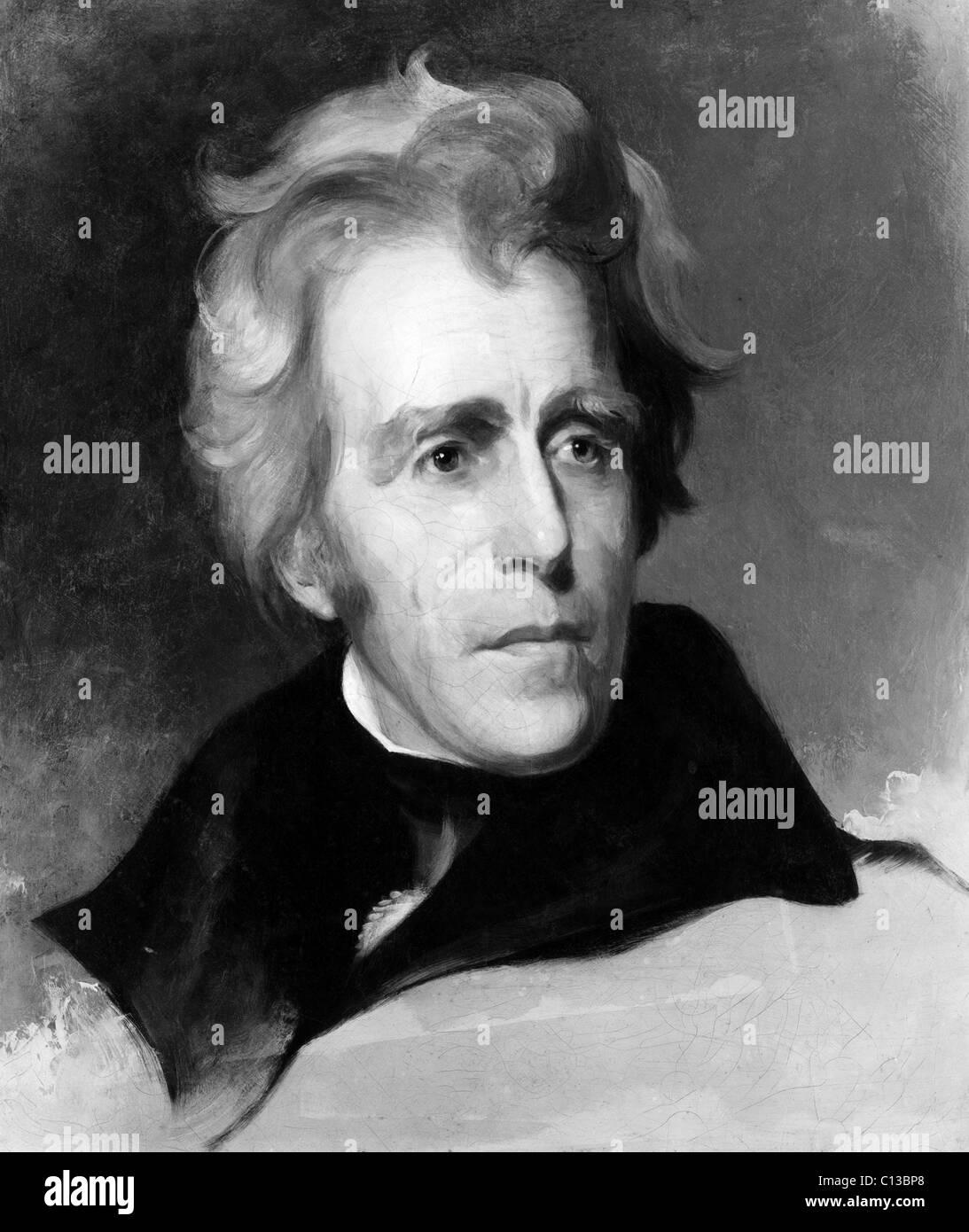 Andrew Jackson (1767-1845), U.S. President 1829-1837, portrait by Thomas Sully, circa 1830s. - Stock Image