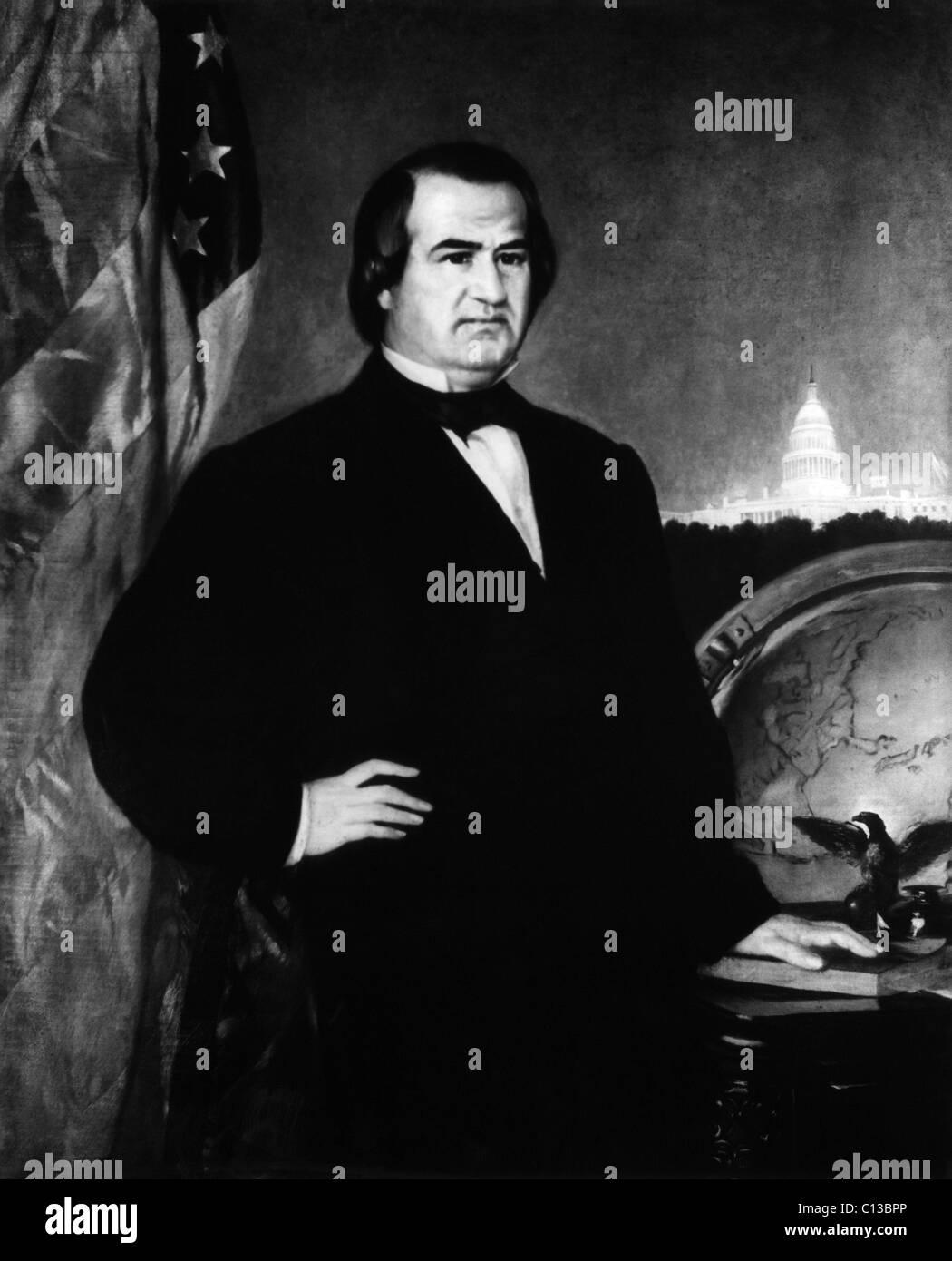 Andrew Johnson (1808-1875), U.S. President 1865-1868, circa 1860s. - Stock Image