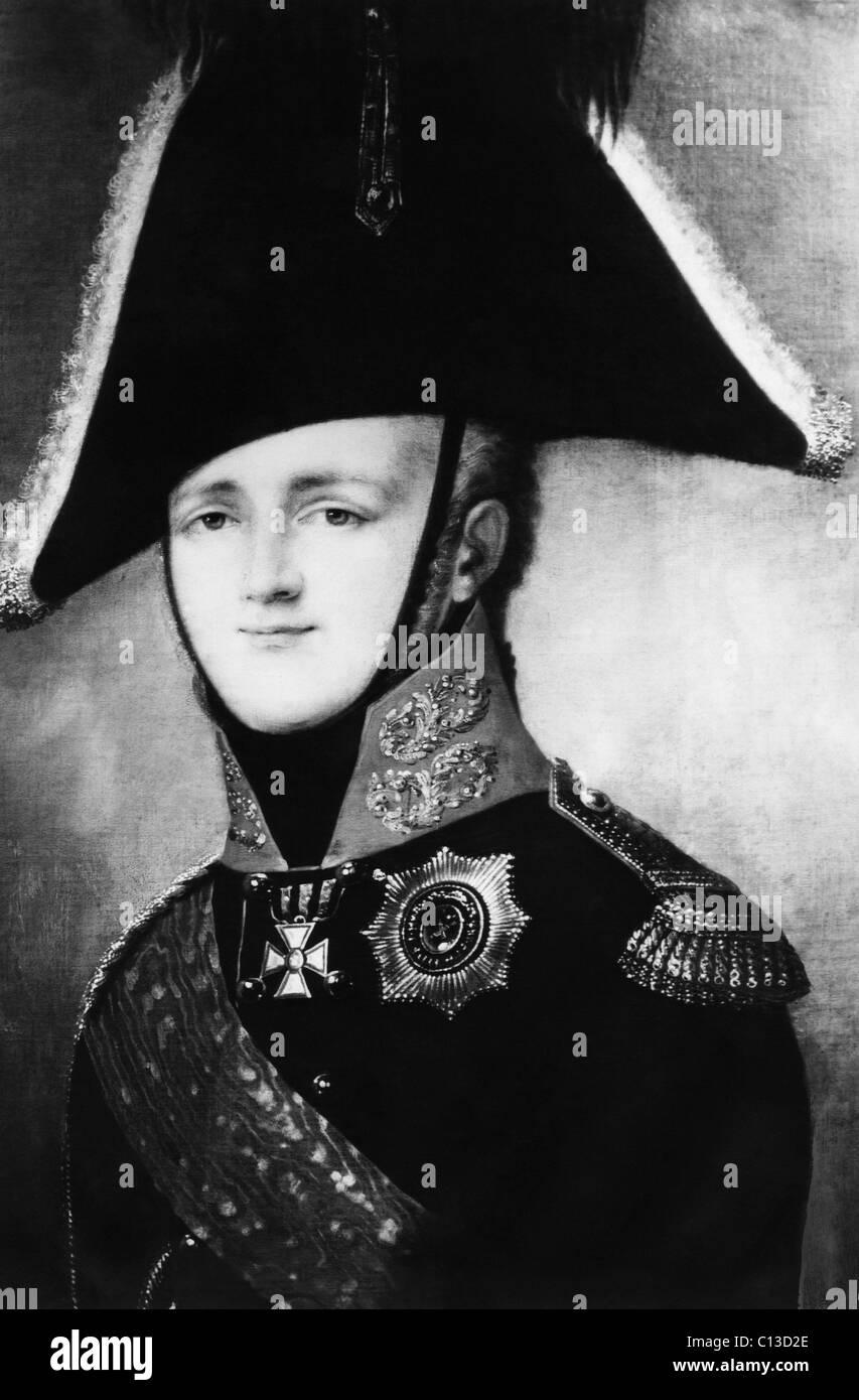 Russian Royalty. Emperor Alexander I, circa 1810s - Stock Image