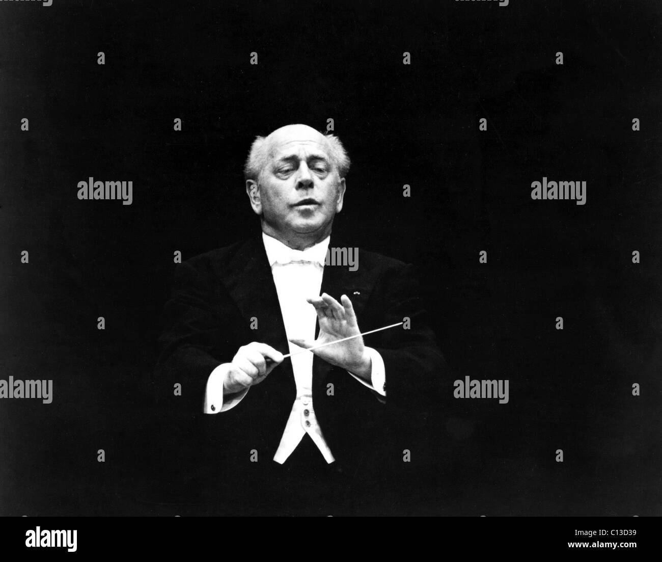 Eugene Ormandy, ca. 1970s - Stock Image