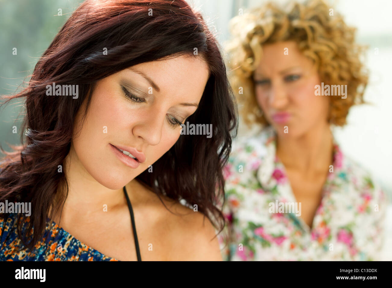 Two women together - Stock Image