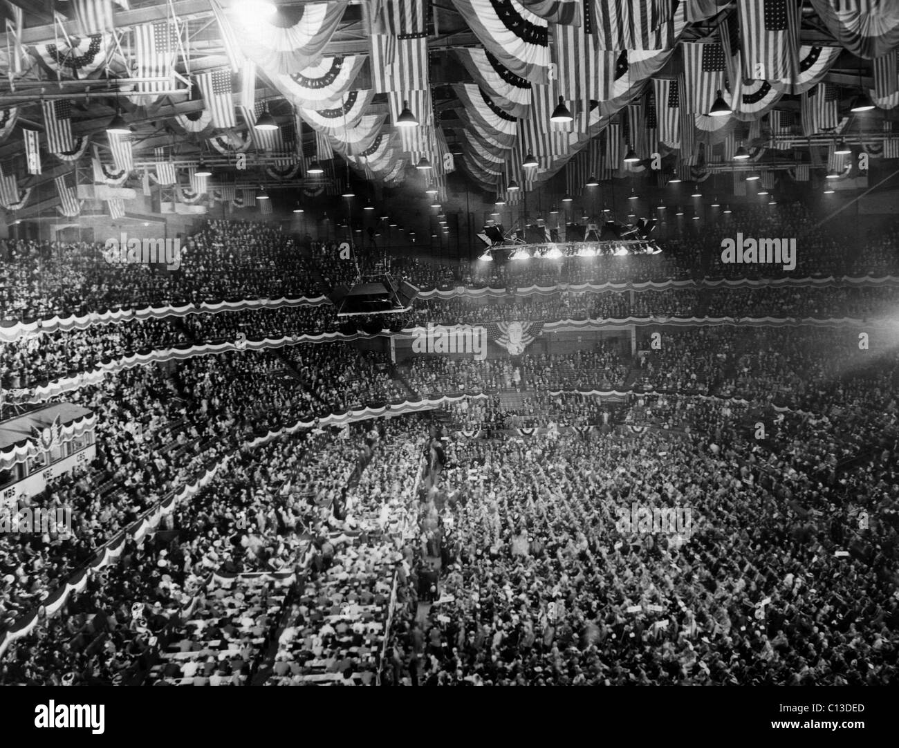 US Elections. The Democratic National Convention in Chicago, Illinois, July, 1940. - Stock Image