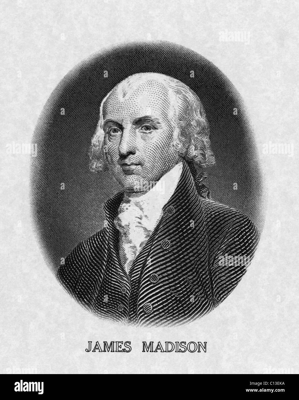 US Presidents. US President James Madison. - Stock Image