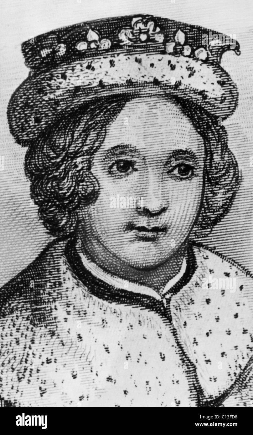British Royalty. British King Edward V, circa 1480s. - Stock Image