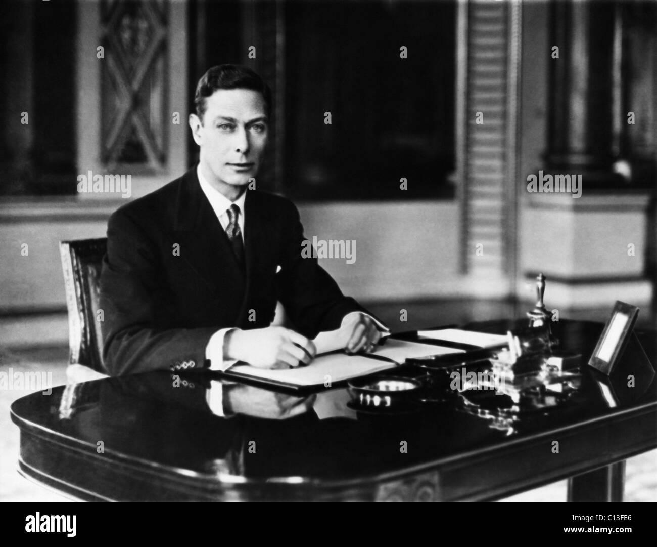 British Royalty. King George VI of England, 1937. Stock Photo