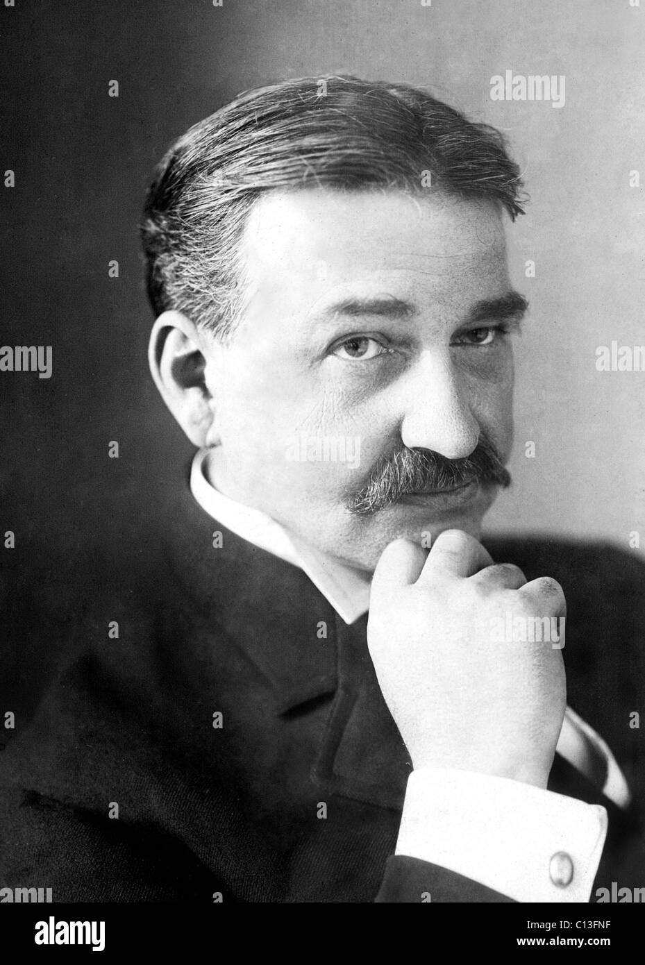 L. FRANK BAUM, author of the original novel, 'The Wizard of Oz', photo by Dana Hull. 1908 - Stock Image