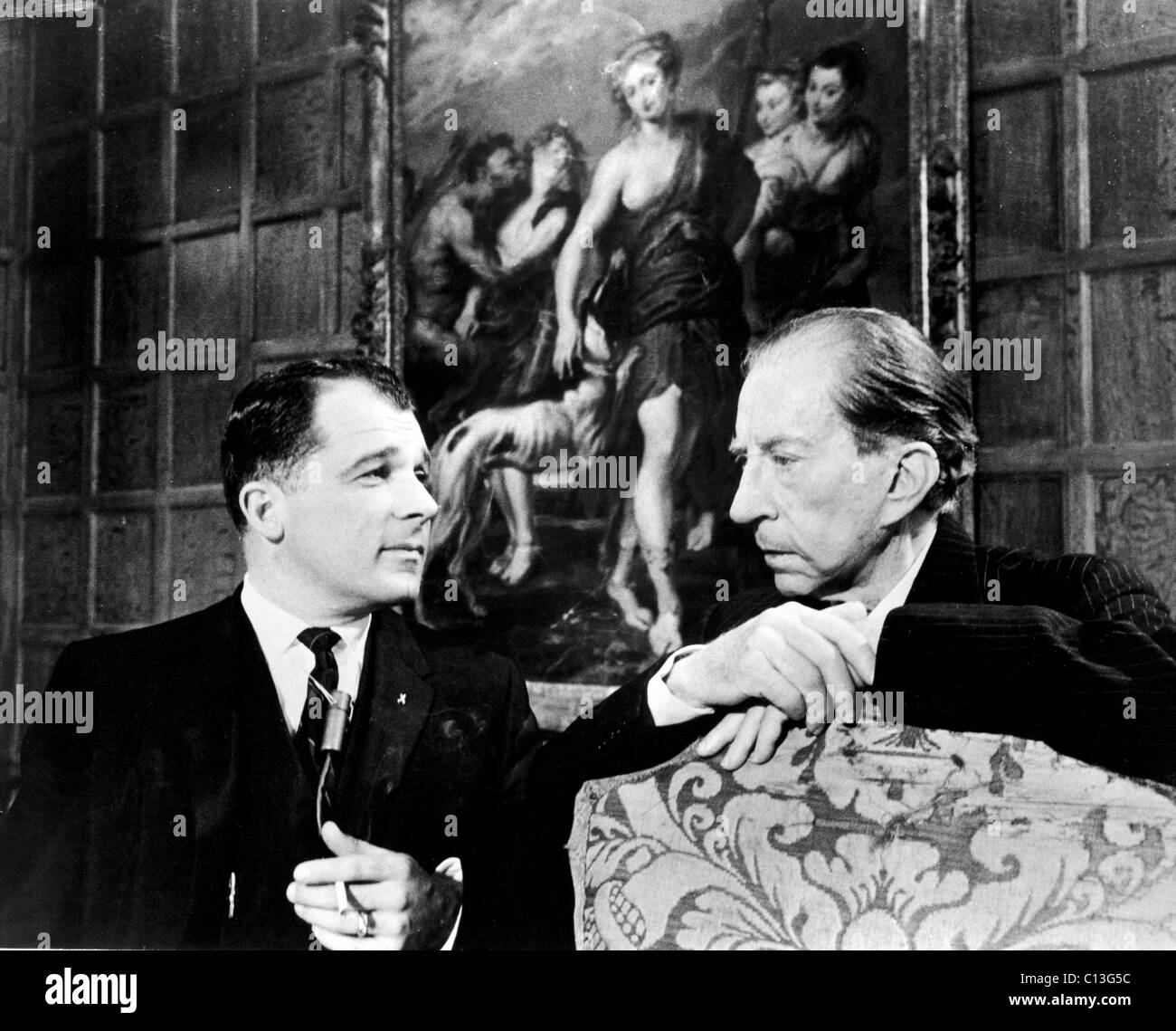 J. Paul Getty, and Lee Bailey, 1967 - Stock Image