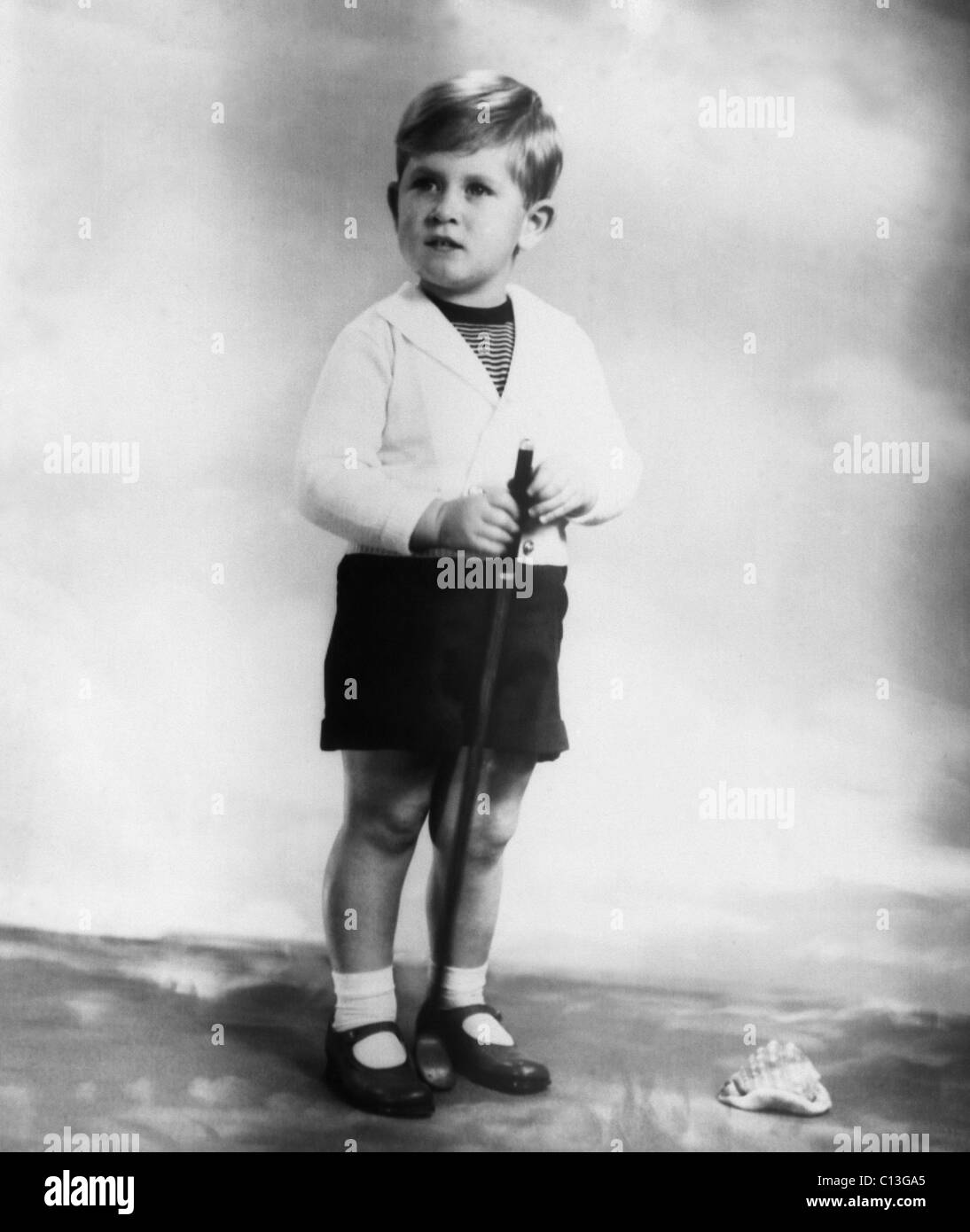 British Royalty. Future Prince of Wales Prince Charles of England, 1951. - Stock Image