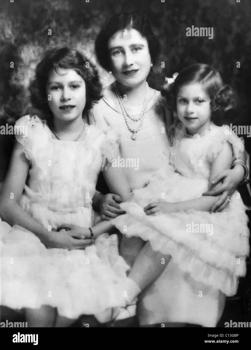 Princess Margaret With Her Children High Resolution Stock