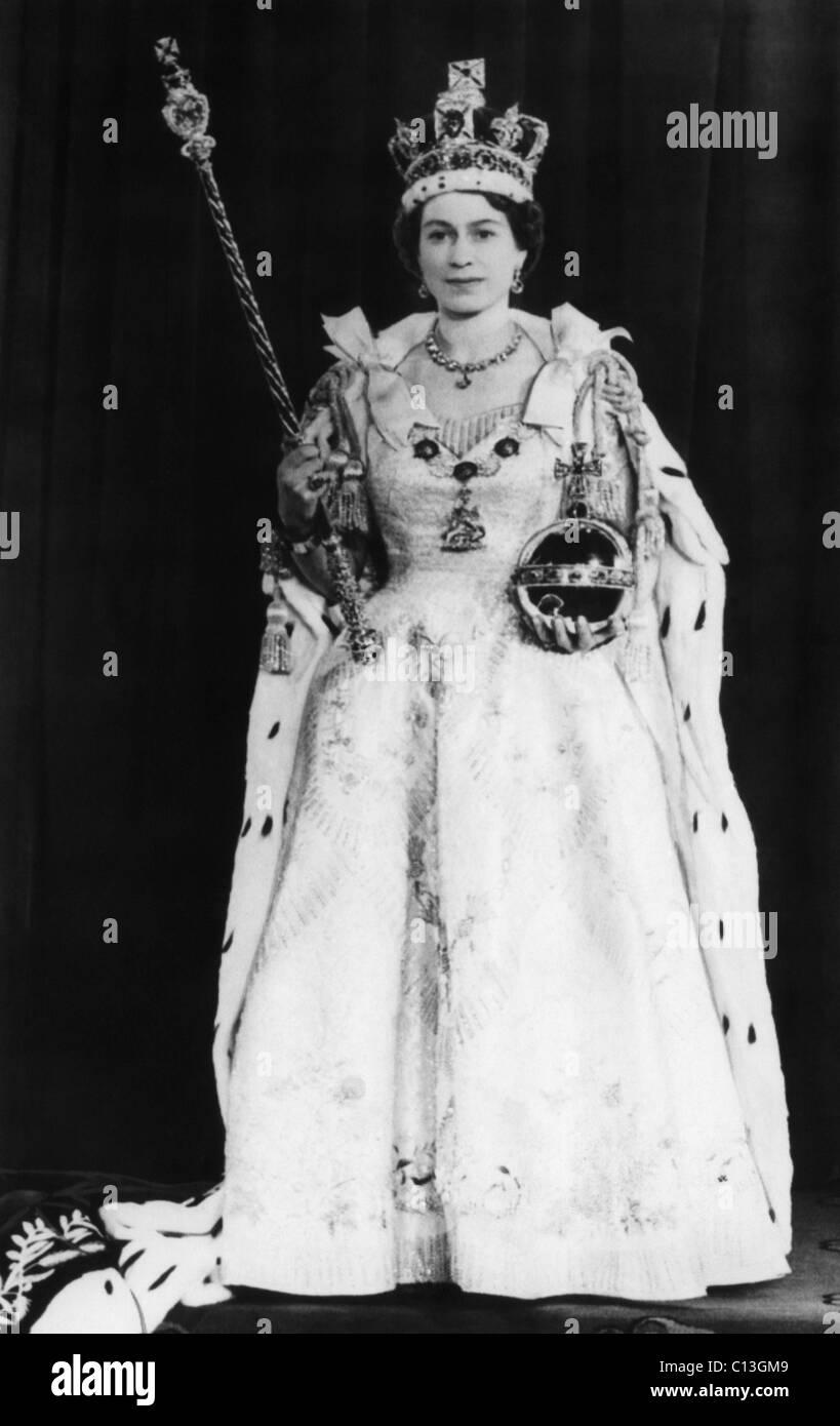 c245da62e Queen Elizabeth II of England during her coronation, Westminster Abbey,  London, England, June 2, 1953.