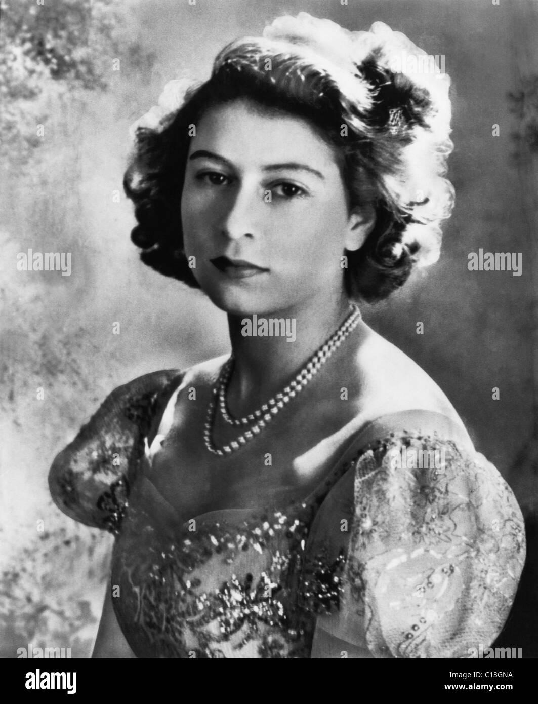 British Royalty. Future Queen of England Princess Elizabeth, 1947. - Stock Image