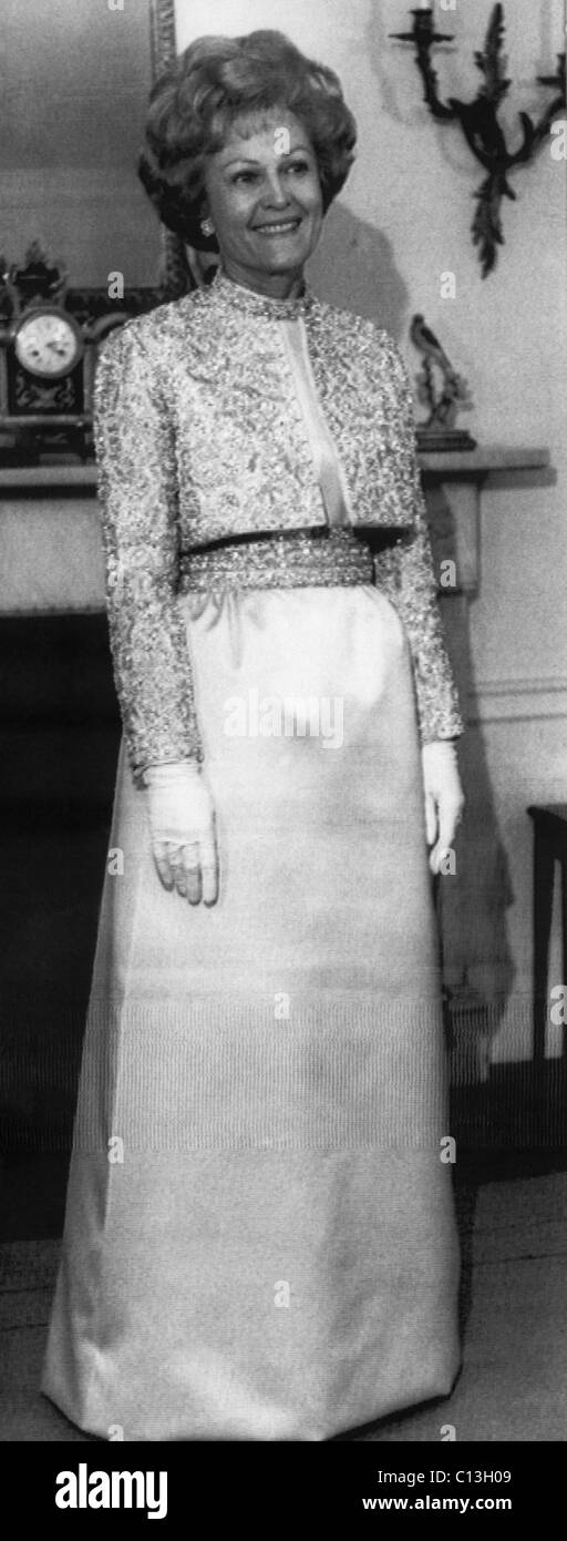 1969 Presidential Inauguration.  First Lady Patricia Nixon in inaugural gown, 1969. - Stock Image