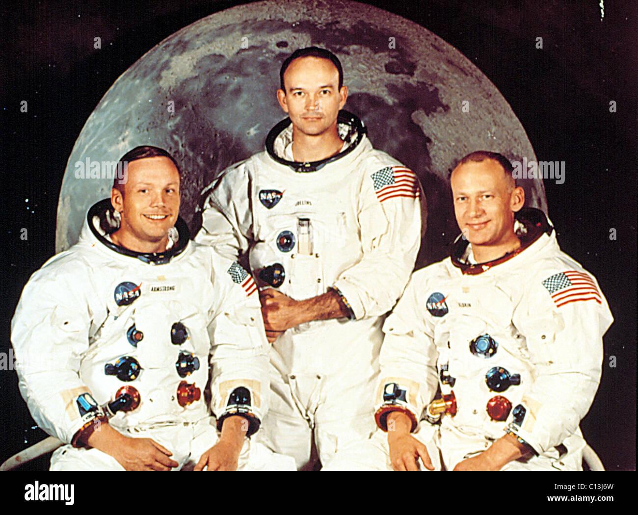 Astronauts & Space Travel Exploration Missions Nice Postcard Badge Apollo 11 Crew Neil Armstrong Moon Landing Space Astronautics