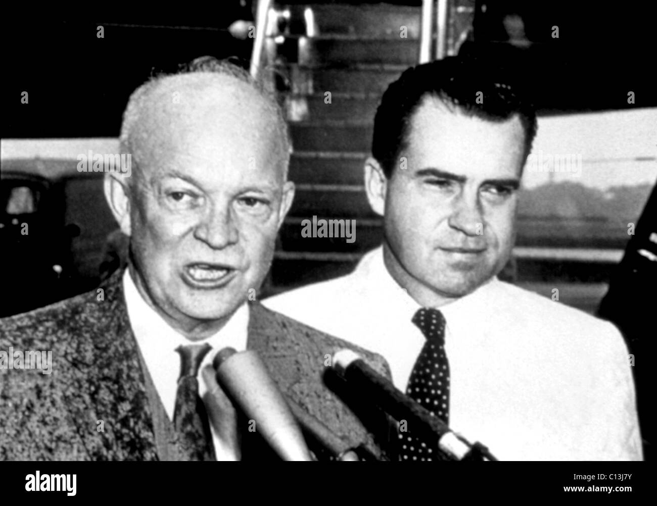 Dwight D. Eisenhower, Richard Nixon, circa late 1950s - Stock Image