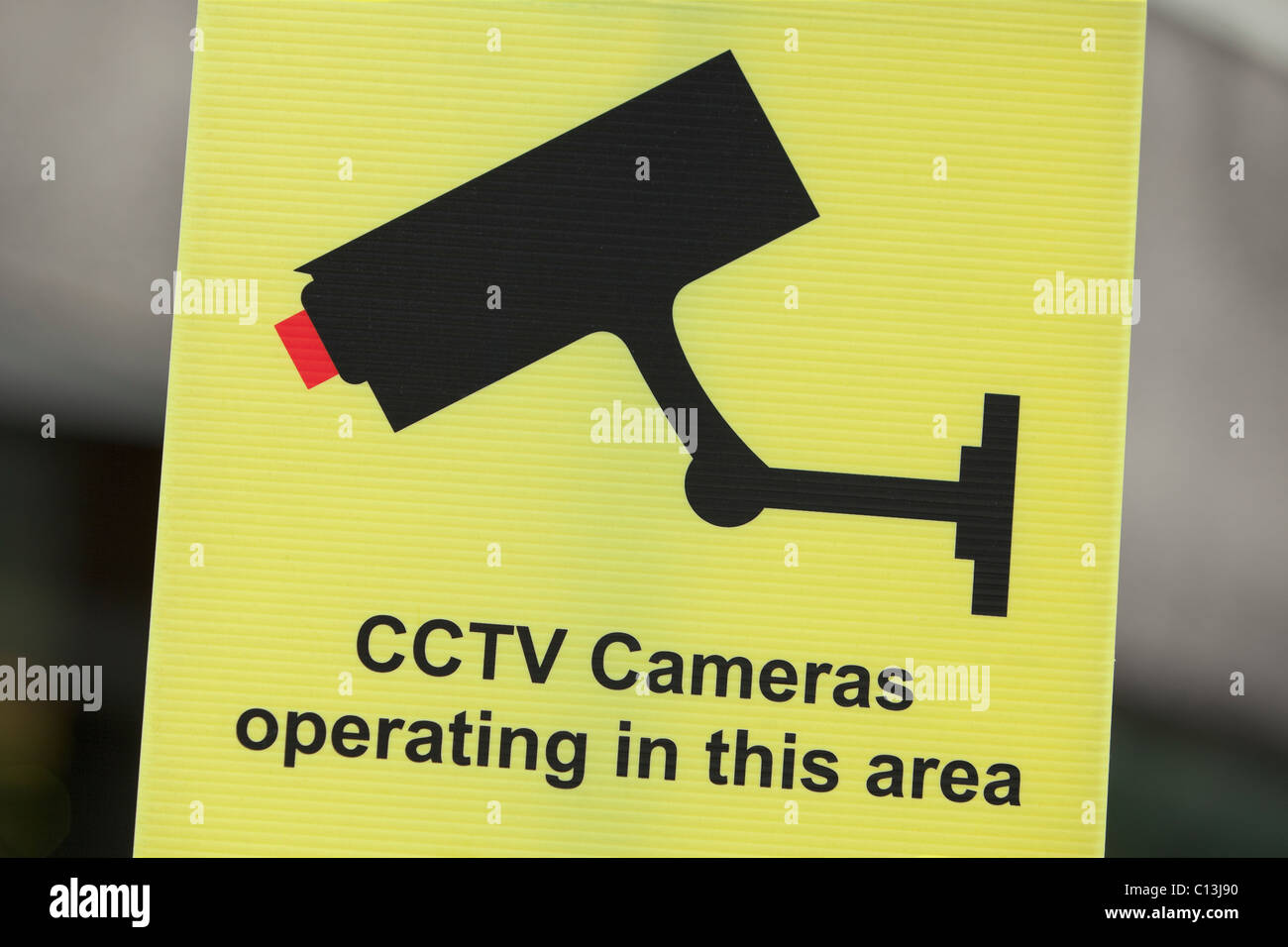 CCTV sign warning of camera in operation,UK - Stock Image