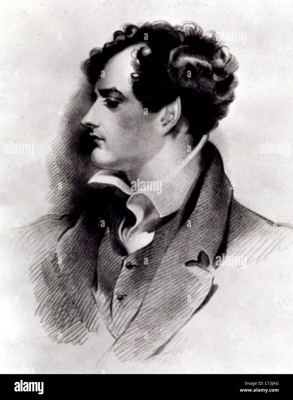 Lord Byron 1800's - Stock Image