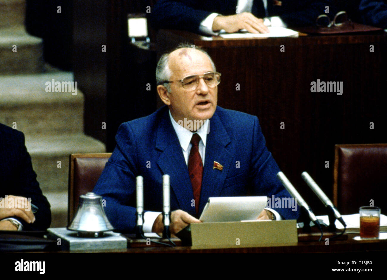 MIKHAIL GORBACHEV during his presidency of the USSR Stock Photo