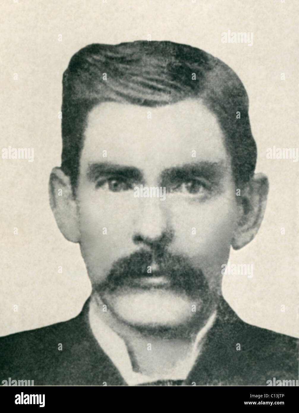 Dr. John H. Holliday (1851-1887) was an American dentist, gambler and gunfighter fought with Wyatt Earp in the Gunfight - Stock Image