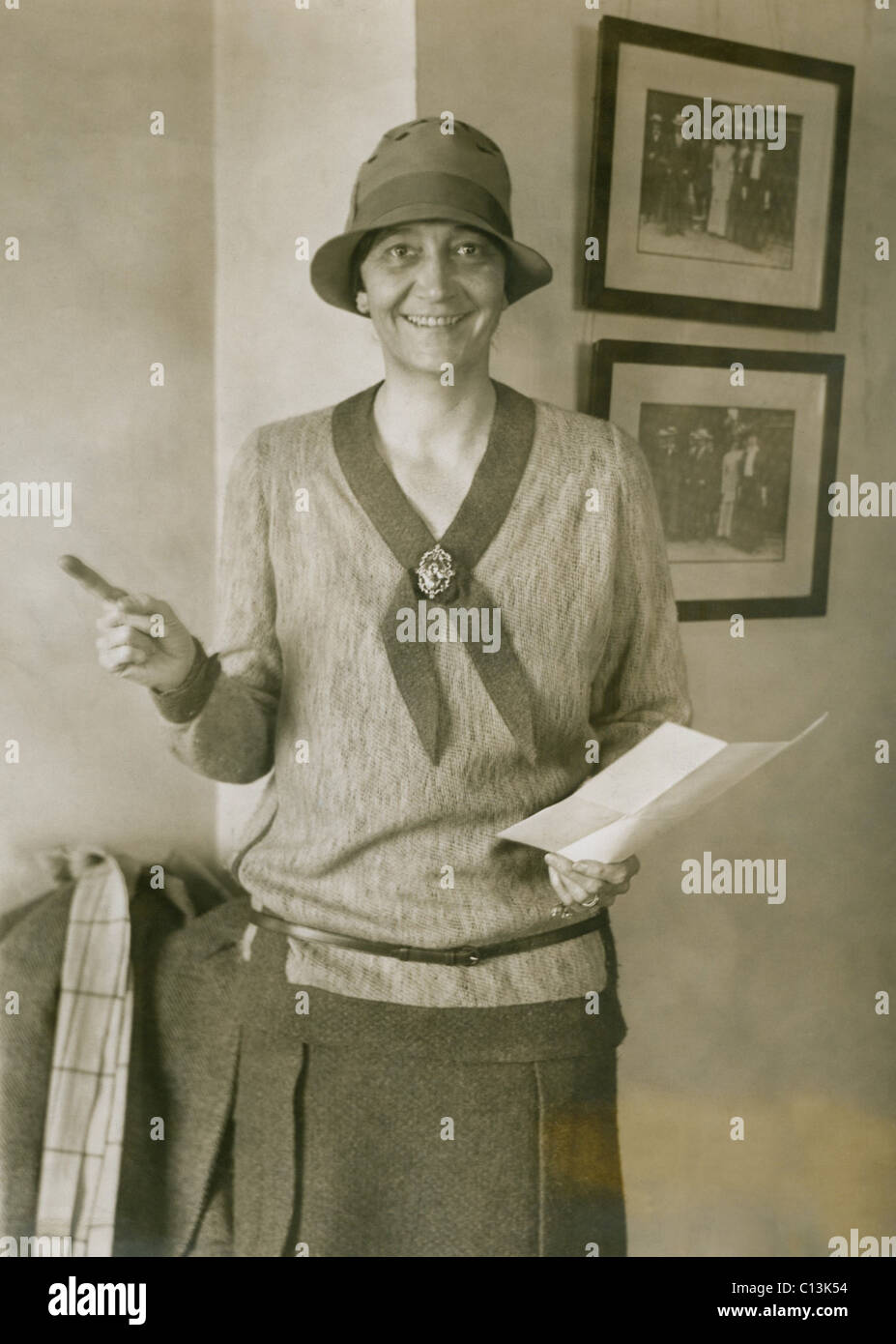 Mrs. Ruth Hanna McCormick (1880-1944), was active in women suffrage movement and in 1928 she was elected to the U.S. House of Representatives. 1927 photo. Stock Photo