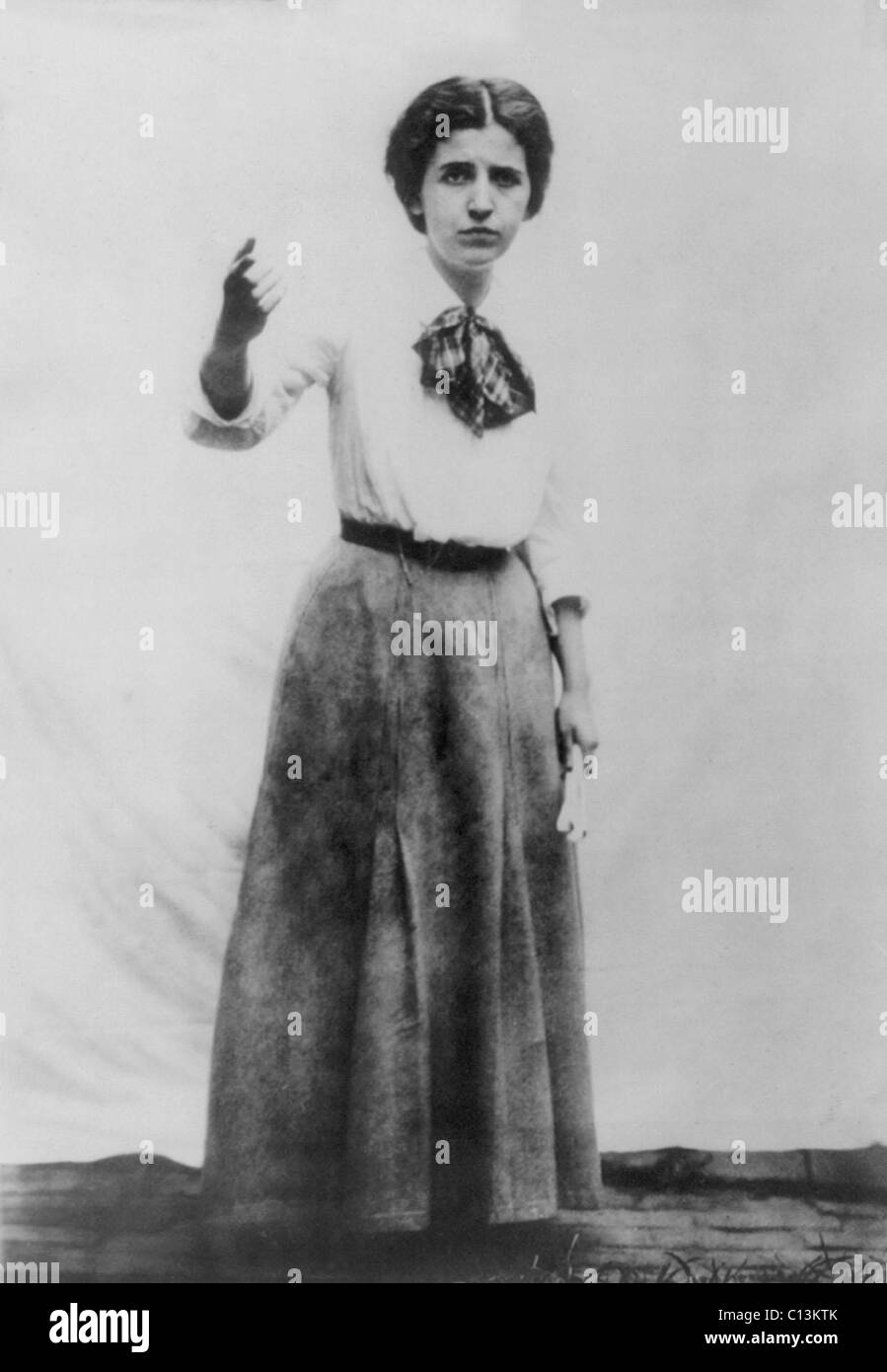 Elizabeth Gurley Flynn (1890-1964), labor leader and feminist associated with the Industrial Workers of the World - Stock Image