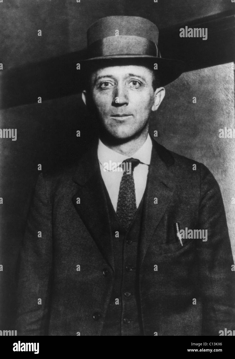 William Zebulon Foster (1881-1961), a radical American labor organizer associated with the Industrial Workers of - Stock Image