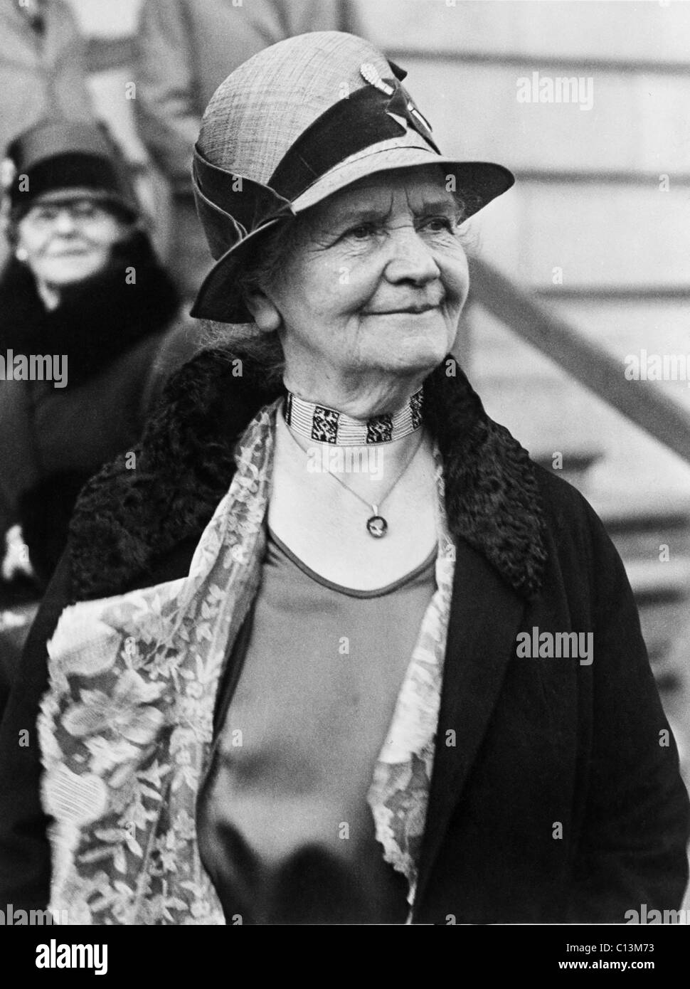 Lucy Peabody President of the Women's National Committee for Law Enforcement an organization of 12 million that Stock Photo