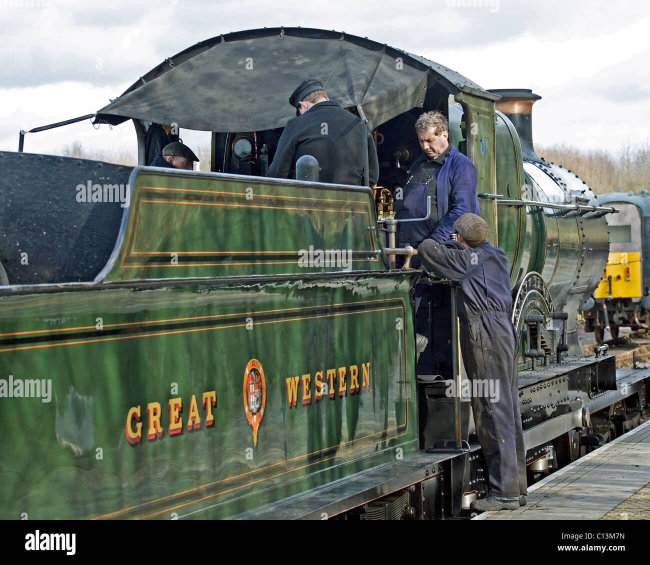 Great Western Steam Locomotive City Of Truro Stock Photos