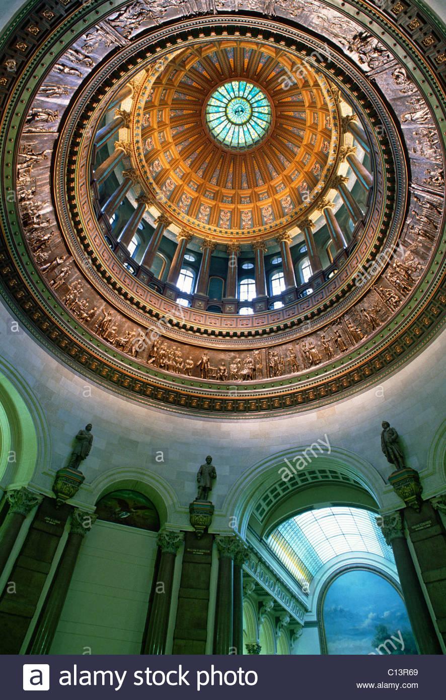 State Capitol, Springfield, Illinois, USA - Stock Image