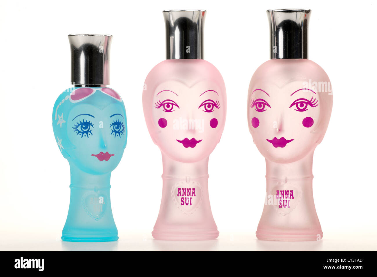 Three perfume bottles by Anna Sui - Stock Image
