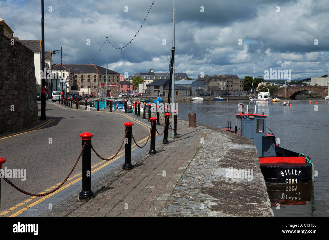 Dungarvan Harbour and Quays, Co Waterford, Ireland - Stock Image