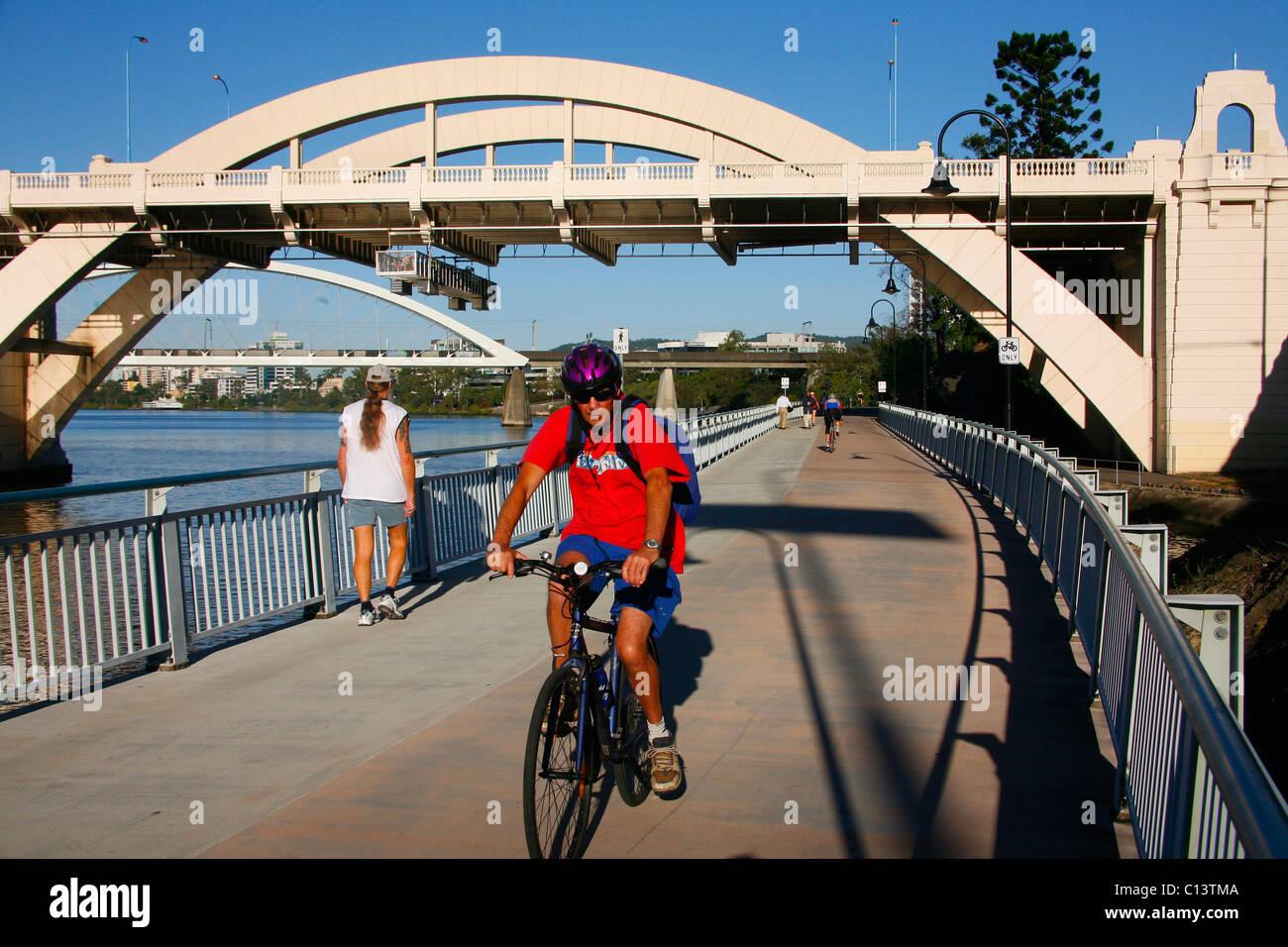 Cycleway Brisbane Australia - Stock Image