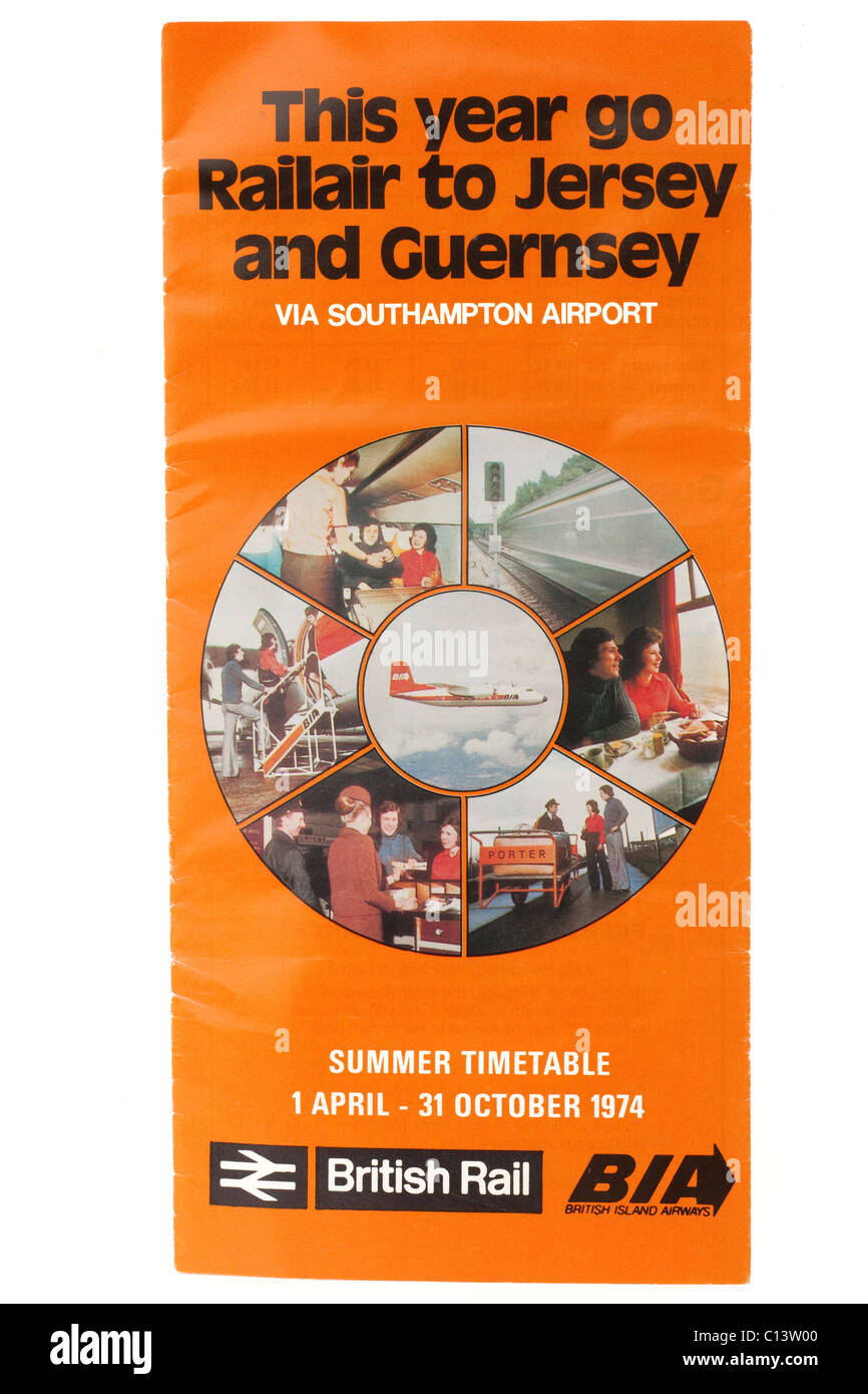 detailed look 59e8a 2245e Vintage 1974 Railair April to October summer timetable to ...
