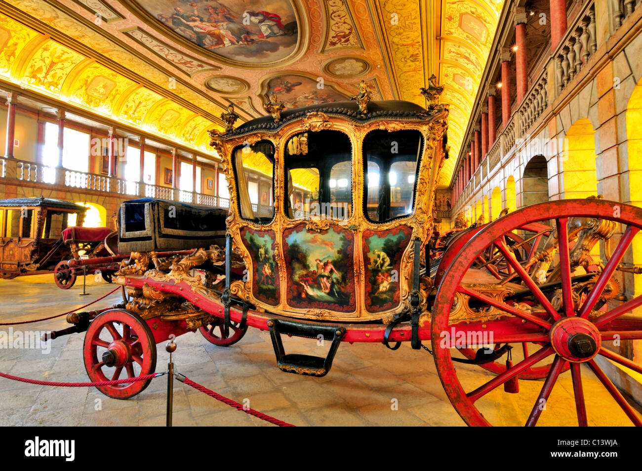 Portugal, Lisbon: Museum of the Carriages in Belem - Stock Image