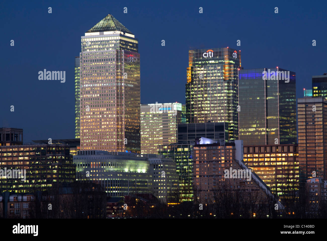 Canary Wharf - Docklands - London - Stock Image