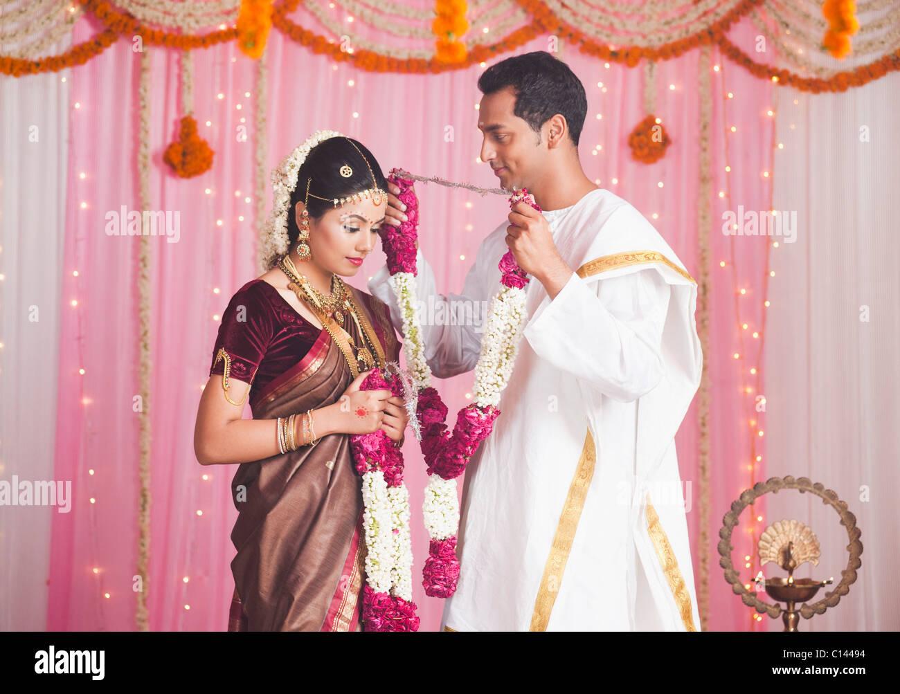 Indian Wedding And Garlands Stock Photos & Indian Wedding And ...