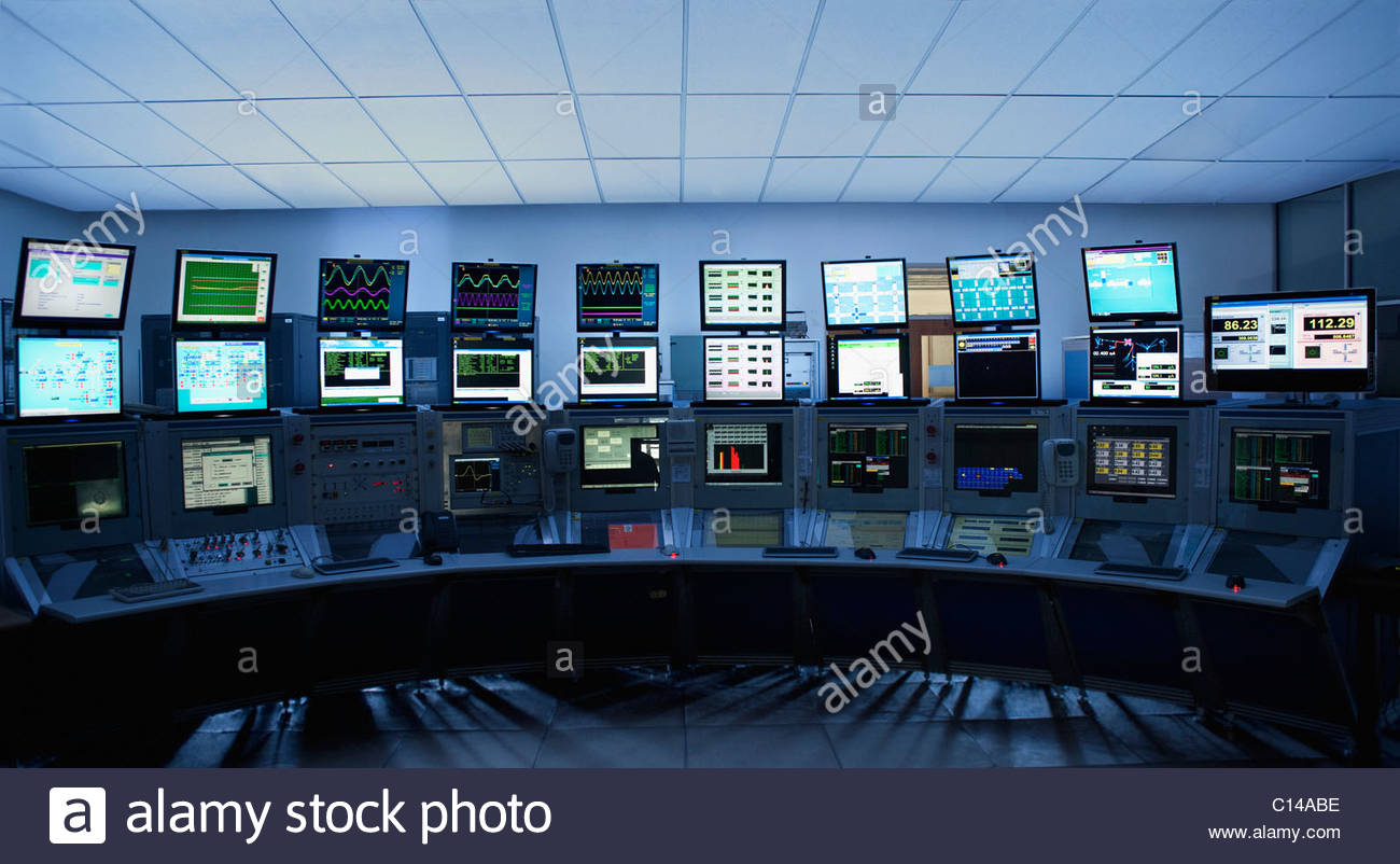 Computer Screens In Control Room Stock Photo 35131362 Alamy