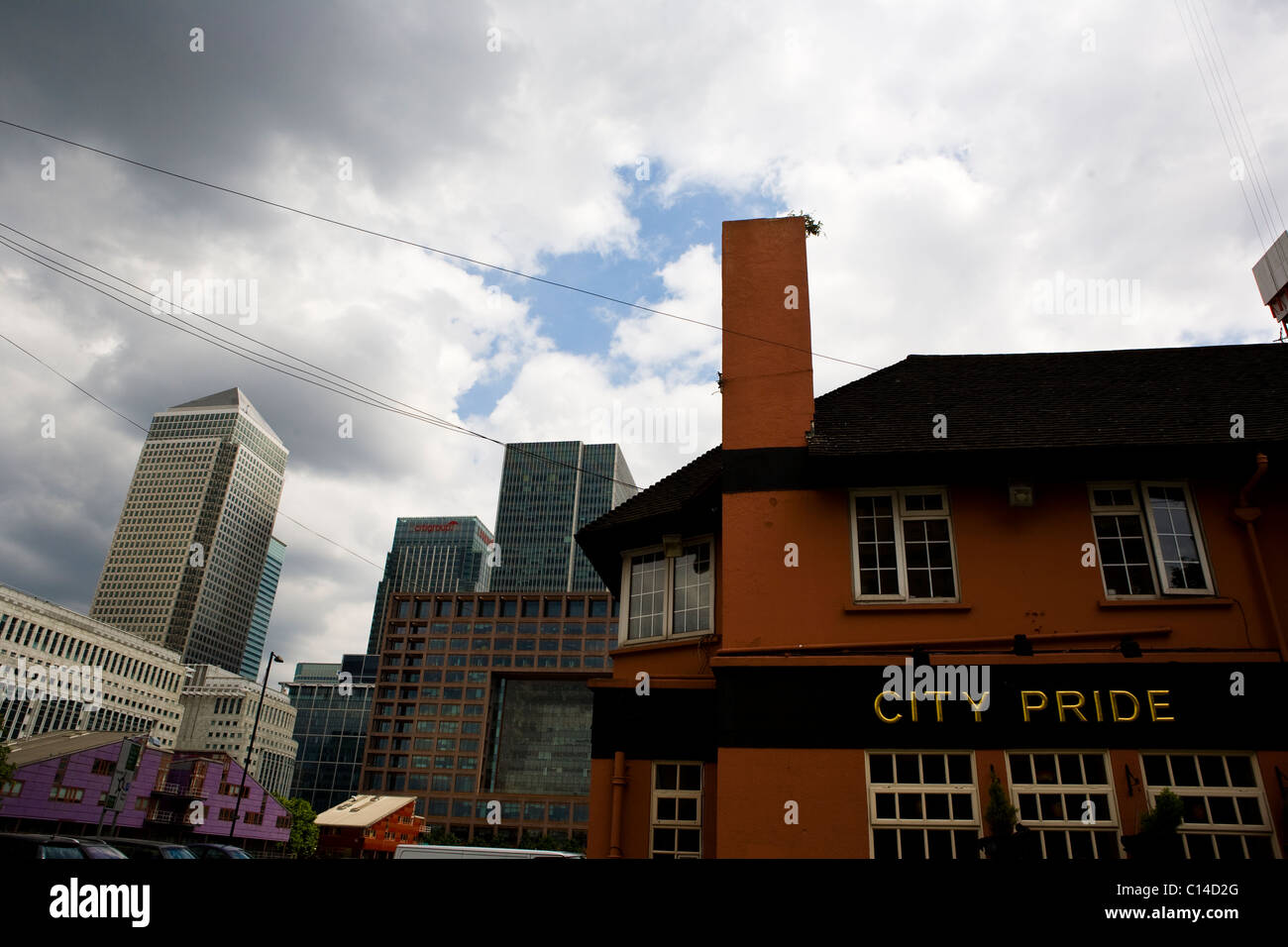 City Pride pub in Canary Wharf, Isle of Dogs, London - Stock Image
